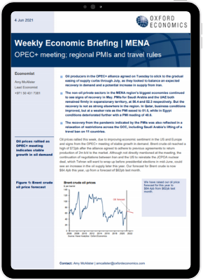 OPEC+ meeting; regional PMIs and travel rules