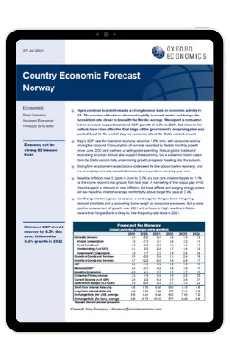 norway a strong bounce back in economic activity