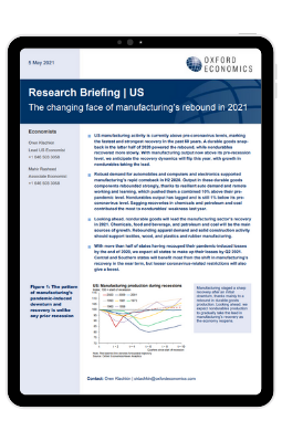 US | The changing face of manufacturing's rebound in 2021