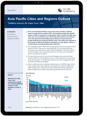 Tentative recovery for major Asian cities