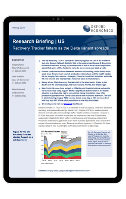 US Recovery Tracker falters as the Delta variant spreads - iPad