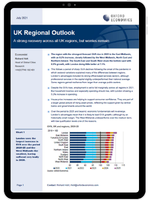 A strong recovery across all UK regions, but worries remain