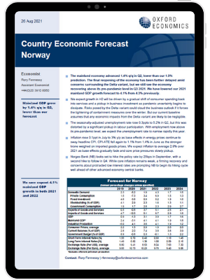 Norway   We expect growth in H2 will be driven by services