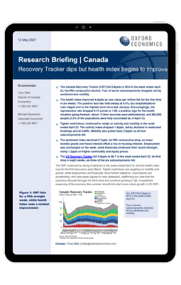 Canada Recovery Tracker dips but health index begins to improve - iPad