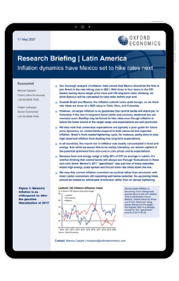 Inflation dynamics have Mexico set to hike rates next - iPad