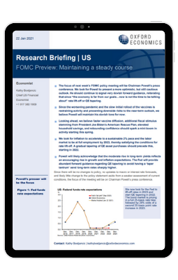 FOMC Preview: Maintaining a steady course