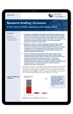 Ipad Frame - Eurozone - A first look at NGEU spending and reform plans