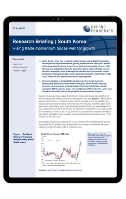 South Korea | Rising trade momentum bodes well for growth