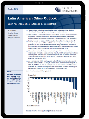 Latin American cities outpaced by competitors