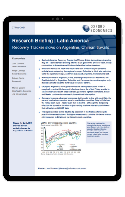Recovery Tracker slows on Argentine, Chilean travails - iPad