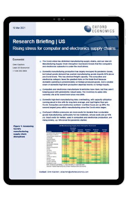 Rising stress for US computer and electronics supply chains - iPad