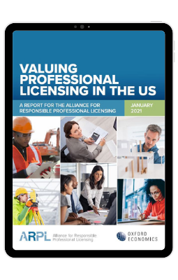 Valuing Professional Licensing in the U.S. - iPad