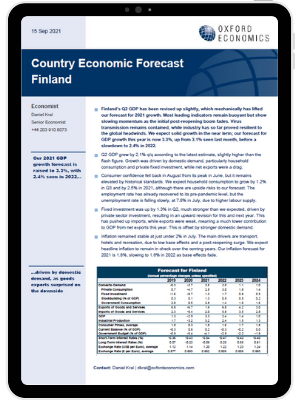 Finland | Growth driven by domestic demand