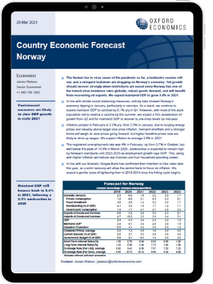 Norway country economic forecast march