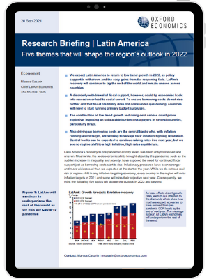 Latin America   Five themes that will shape the region's outlook in 2022