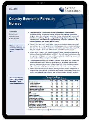 Norway | A strong, consumer-led rebound is to be expected