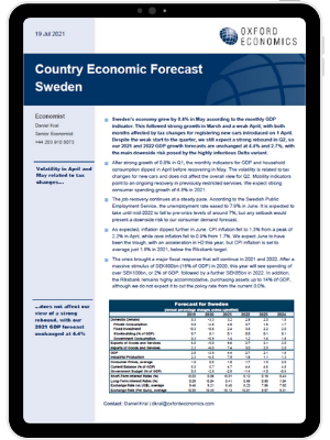 Sweden | Volatile start to Q2 does not change our view