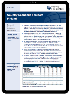 Finland | We expect a strong rebound in Q2